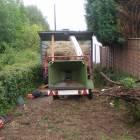 Garden waste mulcher